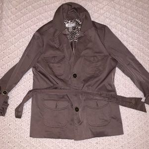 Dress Barn Jackets & Coats - Brown dress barn  button down Jacket